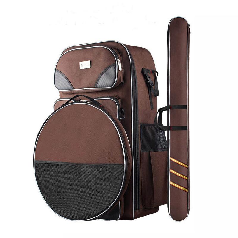 ФОТО 3 piece Multi-function Oxford fabric fishing bag waterproof high quality Fishing Tool Bag with Outdoor Pesca accessories FB009