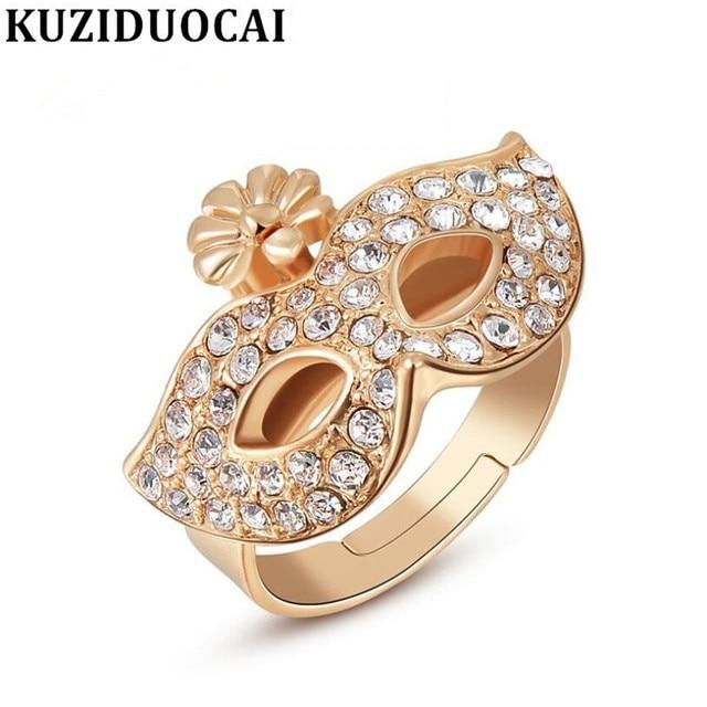 Kuziduocai New Fashion Jewelry Punk Gold Color Full Rhinestone Bohemian Style Ma