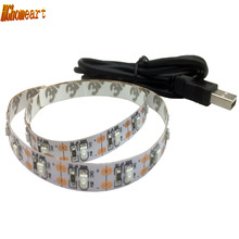 HGhomeart LED Strip Light SMD 3528 Led Backlight Tv DC 5V USB Car-styling Light-emitting Diode Ribbon LED 50CM 1M 2M 3M Led Tape