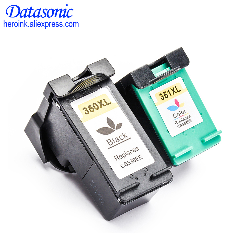 DAT 2PCS Ink Cartridge For <font><b>HP</b></font> 350 <font><b>351</b></font> 350XL 351XL For <font><b>HP</b></font> D4260 D4360 J6480 J5780 C4280 C5280 C4480 C5250 D5360 image