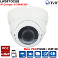 H.265/4MP Ip-камера 5MP H.264 2.8-12 мм зум-Объектив OV4689 + Hi3516D Ip-камеры 4MP IP66 Открытый Ip-камера POE ONVIF с Слот Для Карты SD