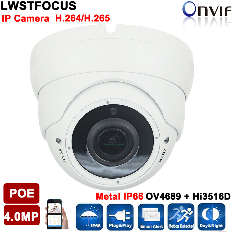 H.265/H.264 4MP IP Camera 5MP 2.8-12mm zoom Lens OV4689+Hi3516D IP Camera 4MP IP66 Outdoor IP Camera POE ONVIF with SD Card Slot h 265 264 ipc lwirdnts400s 4mp ip camera 2 8 12mm varifocal manual zoom lens 4mp ir 30m with sd card slot poe network camera