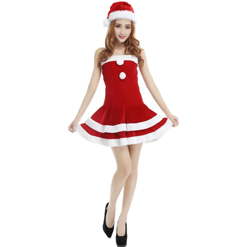 b5111ecc593 Go shopping for best price Female Santa Clause Role Playing Disfraces  Christmas Halloween Fun and Sexy Uniforms Temptation Bunny Lingerie  CK168292.