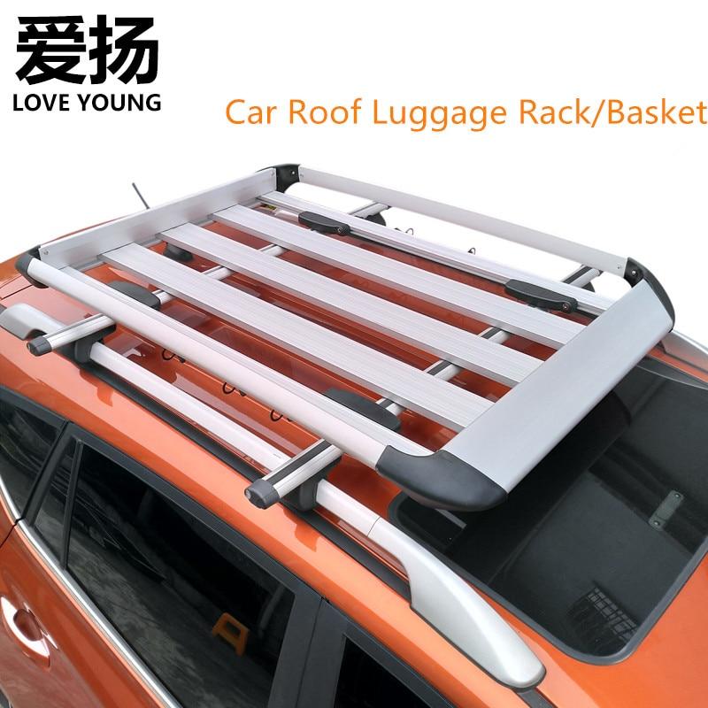 quality aluminum alloy suv roof luggage basket baggage box roof luggage cargo rack travel roof rack