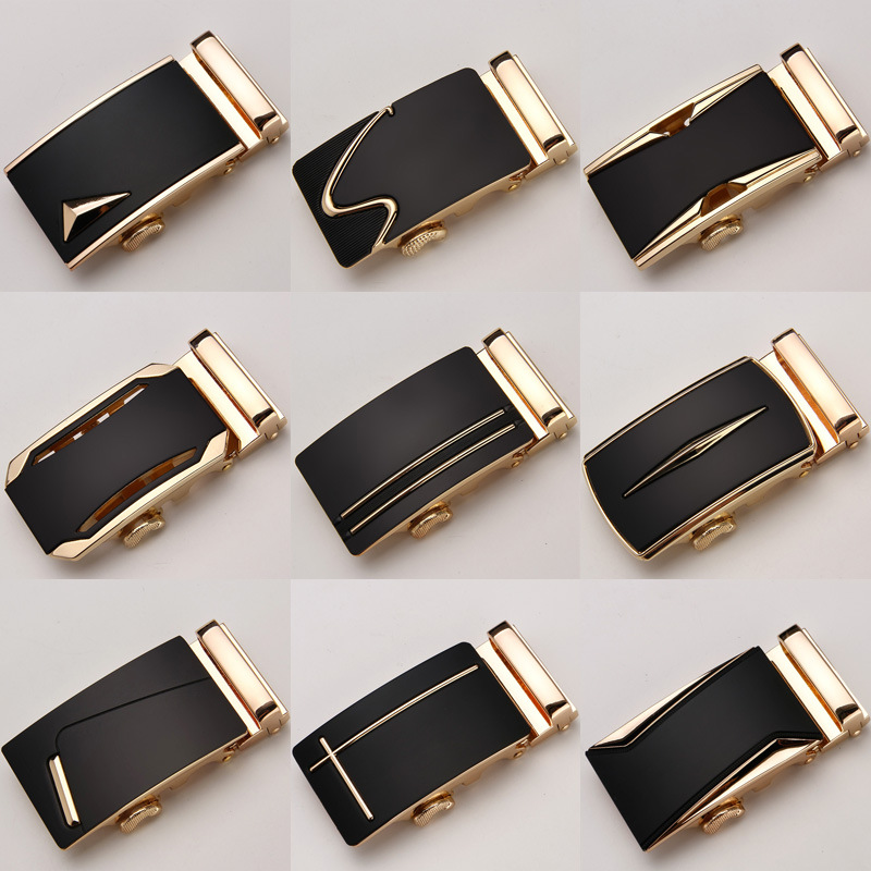 Genuine Men's   Belt   Head,   Belt   Buckle, Leisure   Belt   Head Business Accessories Automatic Buckle Width 3.5CM luxury fashion