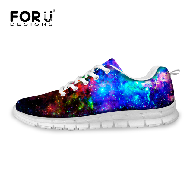 77e40b8ed Galaxy Universe Space Star Print Casual Shoes Women Breathable Ladies  Trainers Shoes Comfortable Trainers Shoes Walking Shoes