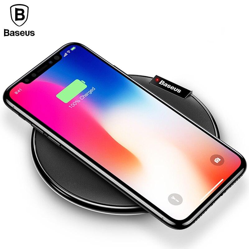 Baseus Qi Chargeur Sans Fil De Charge Pour iPhone X 8 Samsung Note 8 S8 S7 S6 Bord Chargeur De Bureau Rapide Sans Fil De Charge Chargeur