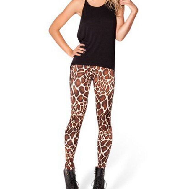 73d3ba521526c Hot Sale New Fashion Black Milk 3D Leopard Print Leggings Baby Giraffe High  Walsted Leggings Clothing Spring Women Pants Leggins
