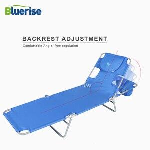 Image 5 - BLUERISE Portable pliable mobilier dextérieur pêche sauvage loisirs plage tabouret soleil sincliner ou poser bronzage ou obtenir un massage