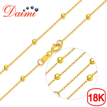 Brand Jewelry Necklace Round-Ball 18k Gold High-Quality Women DAIMI for Gifts