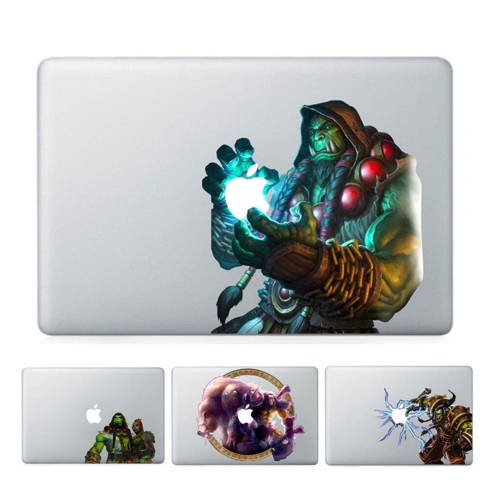 YCSTICKER-Ordinateur Portable Vinyle Partielle Decal BRICOLAGE Personnalité WOW Autocollant monde de Warcraft Peau Pour Macbook Air Pro Retina Tactile Bar