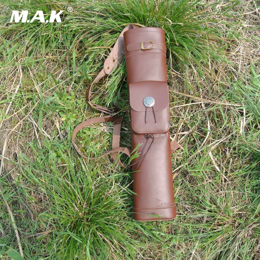 New Style Arrow Bag 53X12 cm Cow Leather Arrow Quiver in Brown for Archery Hunting Shooting Free Shipping archery arrow quivers handmade brown cow leather arrow holder for hunter outdoor shooting sling shot