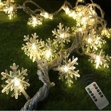 Светящаяся гирлянда в виде снежинок с дистанционным управлением