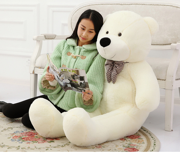 fillings toy white Teddy bear plush toy stuffed bear large 120cm soft doll throw pillow Christmas gift b2803 купить