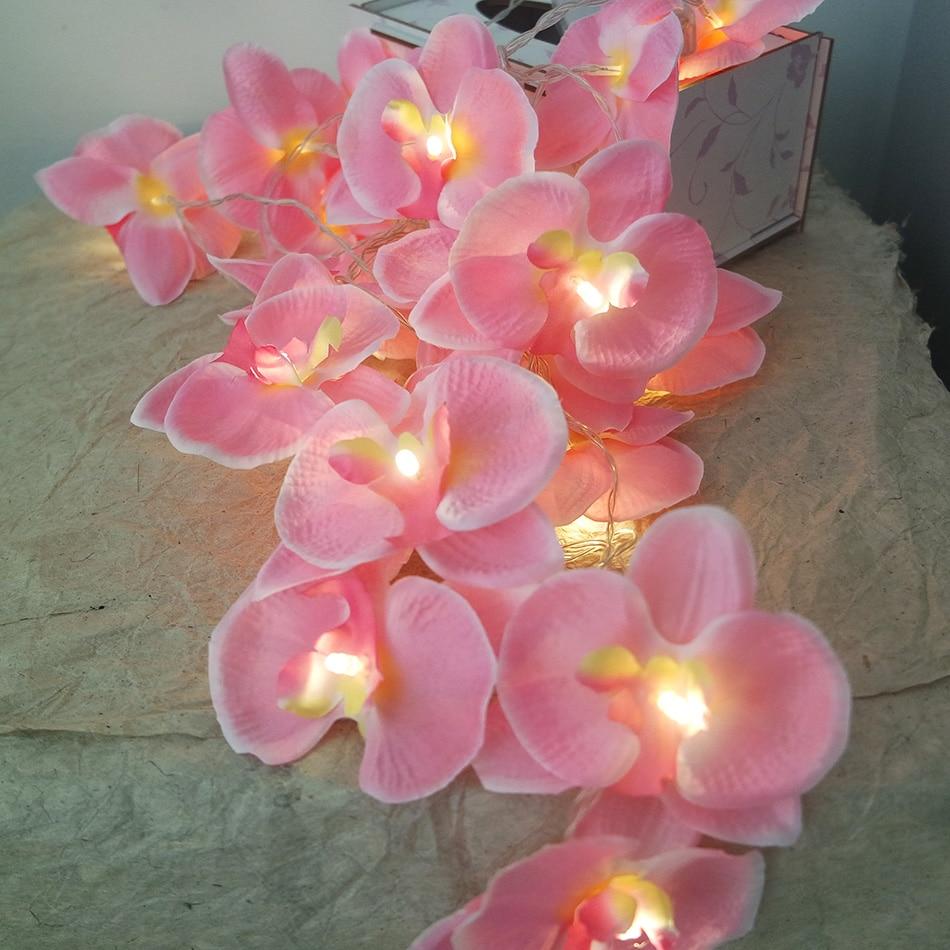Nieuwigheid orchidee Fairy String Lights slinger, 4M 20 leds Fashion - Feestversiering en feestartikelen - Foto 5