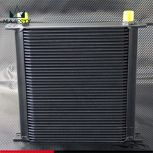40 Row AN10 Aluminum Engine & Transmission 10-AN Oil Cooler Turbo Cooling Fuel System
