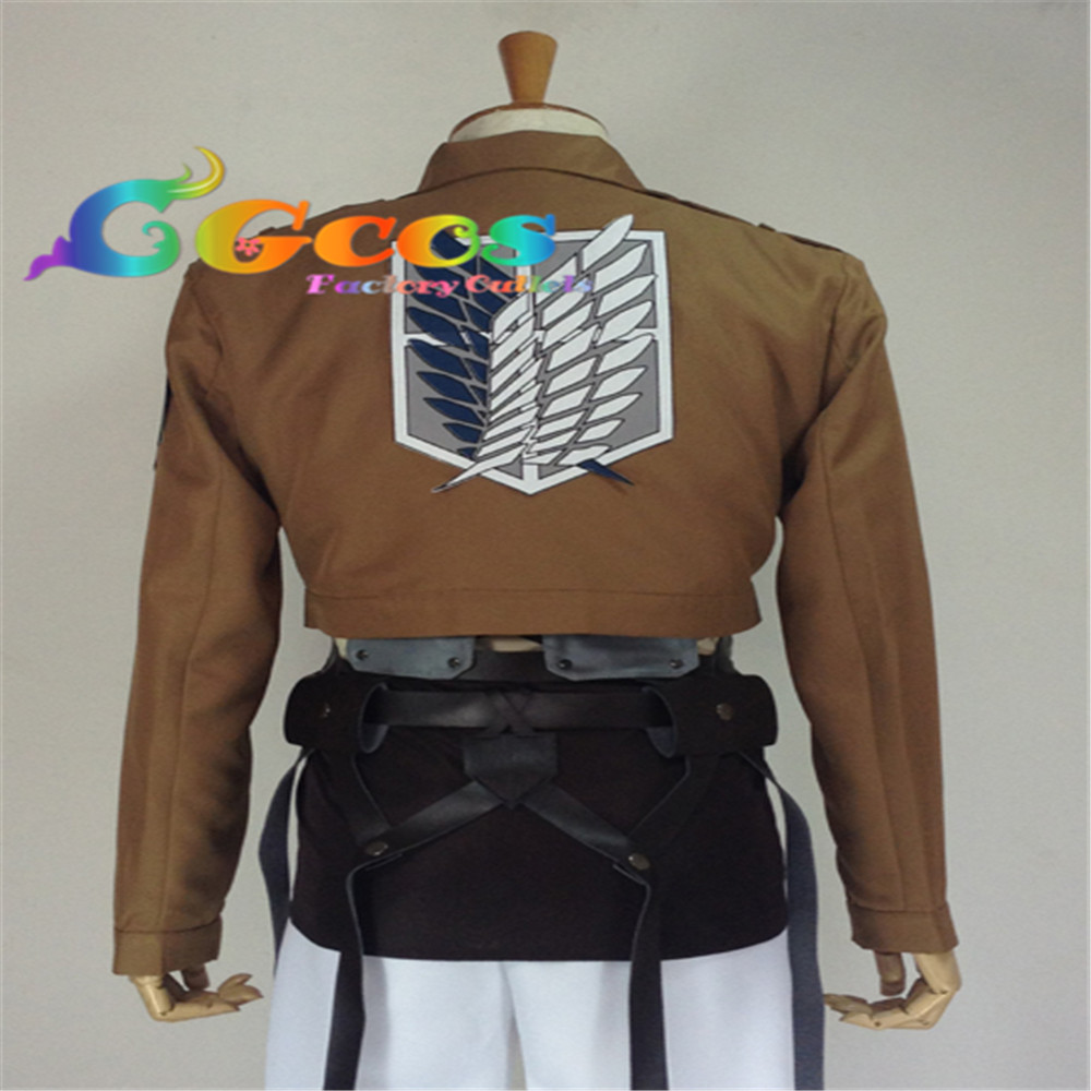 CGCOS Hot Sale! Anime Cosplay Costume Attack on Titan Shingeki no Kyojin Hanji Zoe Jacket Costume Christmas Party стоимость