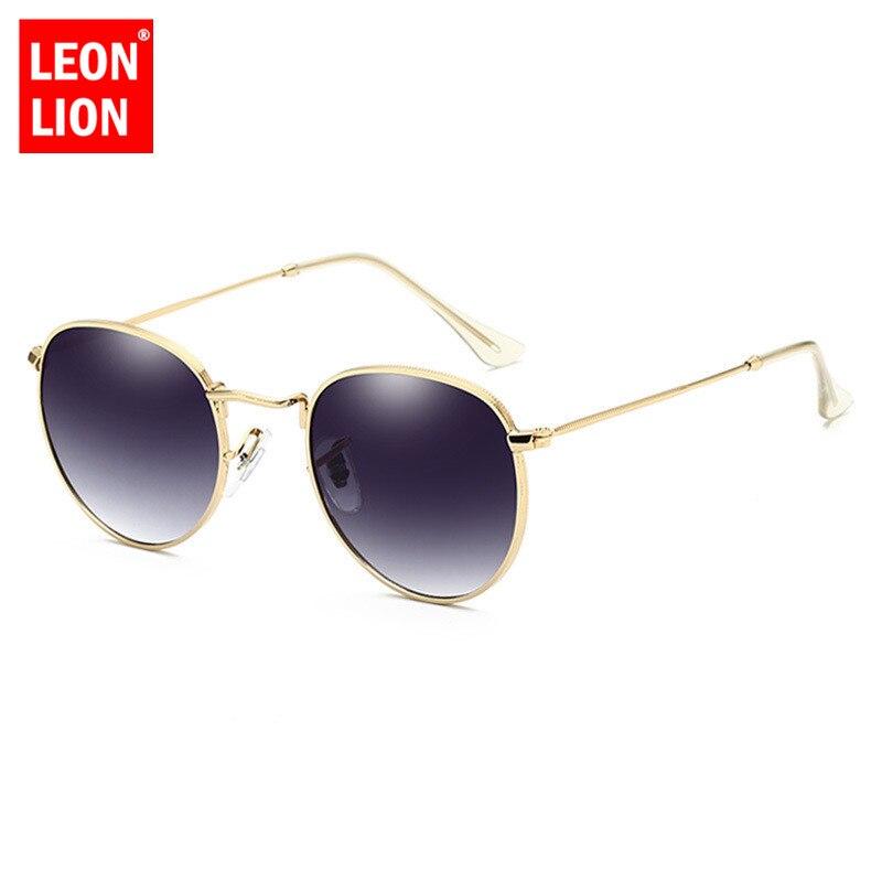 LeonLion 2019 Luxury Lustro okulary kobiety/mężczyźni marka dizajnerskie okulary okrągłe okulary słoneczne 3