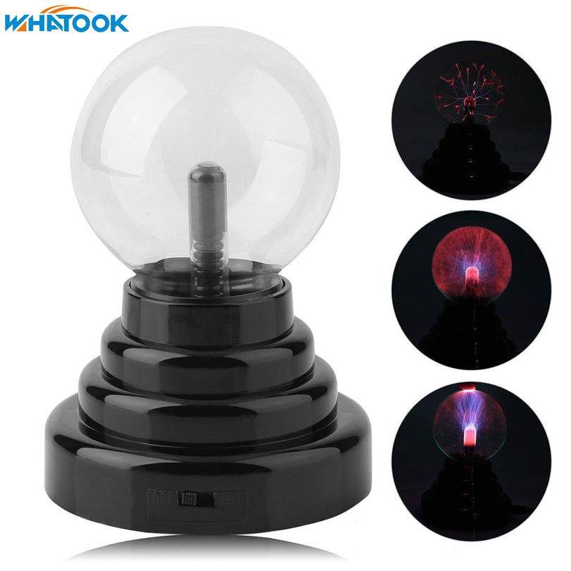 3 Inch Glass Plasma Lamp Ball Sphere Lighting Transparent Party magical ball electrostatic Light battery USB ball night light