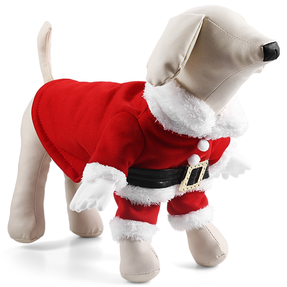 Overalls Clothes For Small Pet Dog Christmas Santa Claus Costume Clothes Coat with Hat Winter clothing Goods for pets