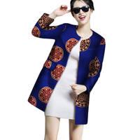 African Coat For Women Casual Batik Dashiki For Women Full Sleeve Slim African Clothes