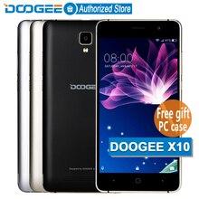 В наличии Doogee X10 мобильные телефоны 5.0 дюйма IPS 8 ГБ Android6.0 смартфон Dual SIM MTK6570 5.0MP 3360 мАч WCDMA GSM телефон