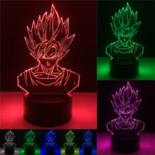 Dragon Ball Super Saiyan God Goku Action Figures 3D Illusion Table Lamp 7 Color Changing Night Light Boys Child Kids Baby Gifts(China)