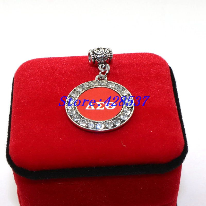 Free shipping dst greek sorority symbol red white delta for Delta sigma theta jewelry