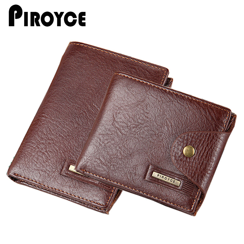 2017 Mens Short Wallets 100 Genuine Leather Zipper Hasp Male Wallet Black Brown ID Card Holder
