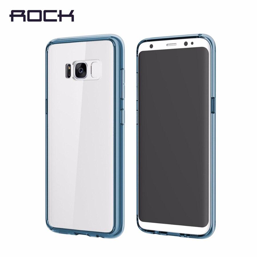 imágenes para A prueba de golpes para Samsung Galaxy S8/S8 más ROCA Pura serie PC + TPU Ultra delgada Transparente Trasera Dura para la Galaxia S8 capa