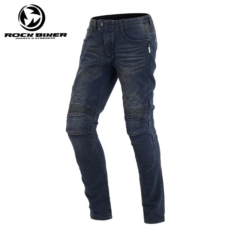 Motorcycle Pants Motocross Racing Jeans Pants Rider Motorbike Off-Road Racing Knee Protective Motorcycle Trousers ROCK BIKER