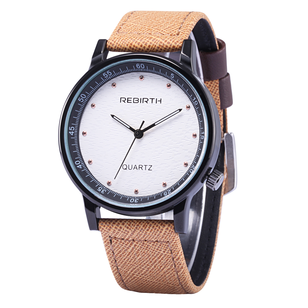 Permalink to 2017 Rebirth Fashion Casual quartz lover's watches Genuine leather Male Female Business Military gift Business men women Watch