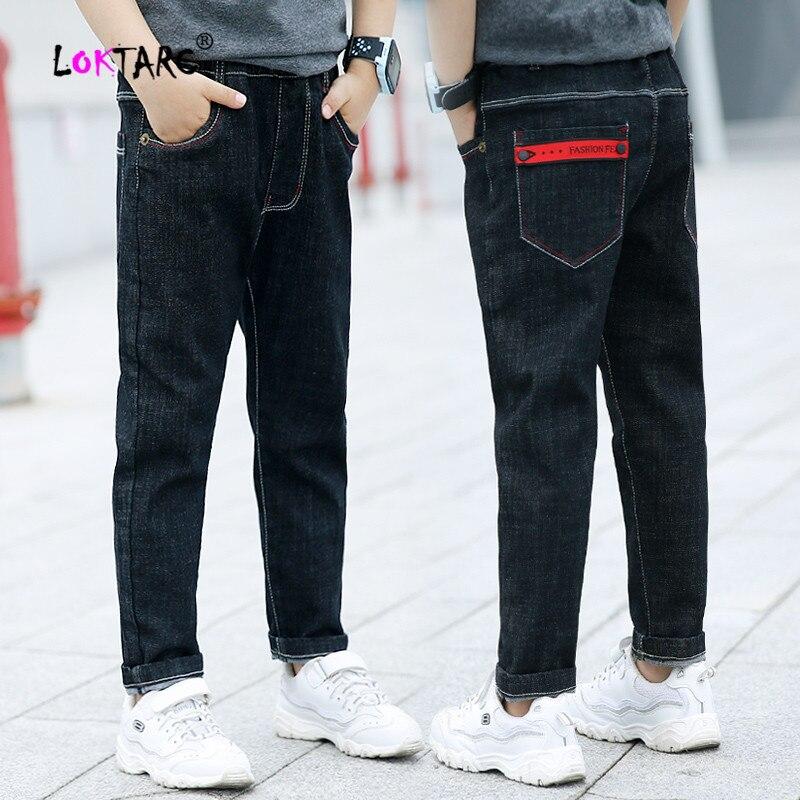 LOKTARC Boys' Jeans Cotton Elastic Waist Boy Casual Trousers Children'S Denim Pants Autumn Spring Jeans for Kids Cowboy Pants(China)