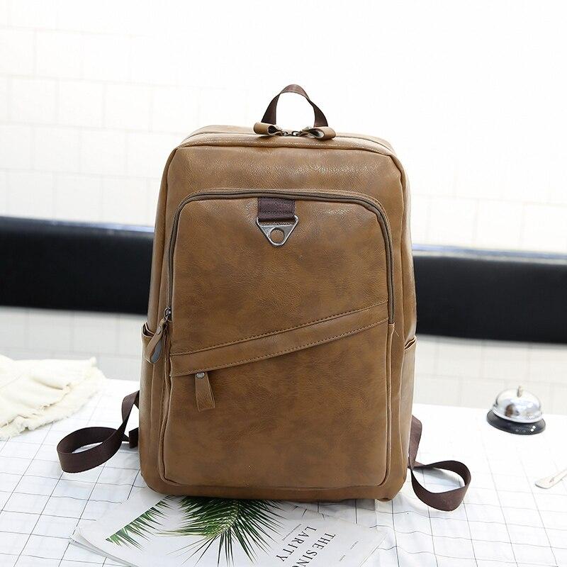 20087f2cd8ef Классический износостойкий мужской рюкзак из искусственной кожи  индивидуальная Большая вместительная сумка на плечо модный винтажный пор