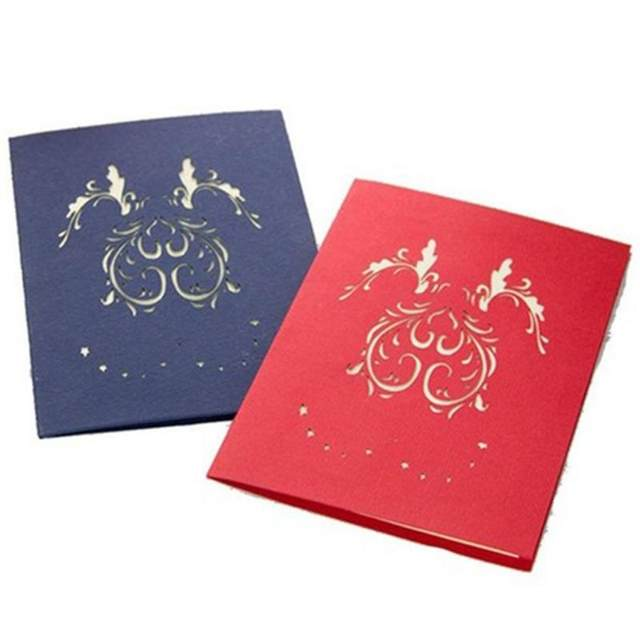 Online Shop 3d Card Love Valentine Greeting Cards Hollow Out Design