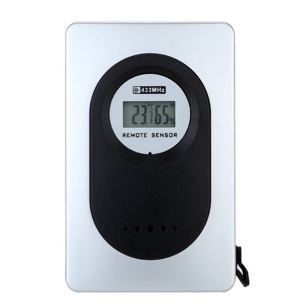 Indoor/outdoor wireless weather clock Desk Digital thermometer and ...