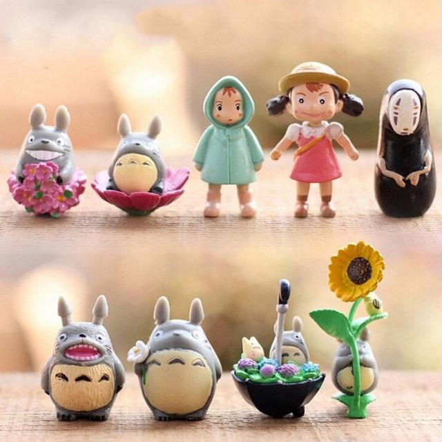 9 PCS Studio Ghibli Anime Figure My Neighbor Totoro Toy Hayao Miyazaki Mini Garden PVC Action