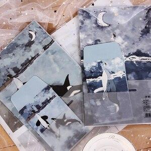 Image 2 - 8Packs/lot New Floating Foresta Mare Elfi 3 Buste + 6 Lenzuola Lettera di Carta Set di nozze per inviti Carino ufficio Stazionario Forniture