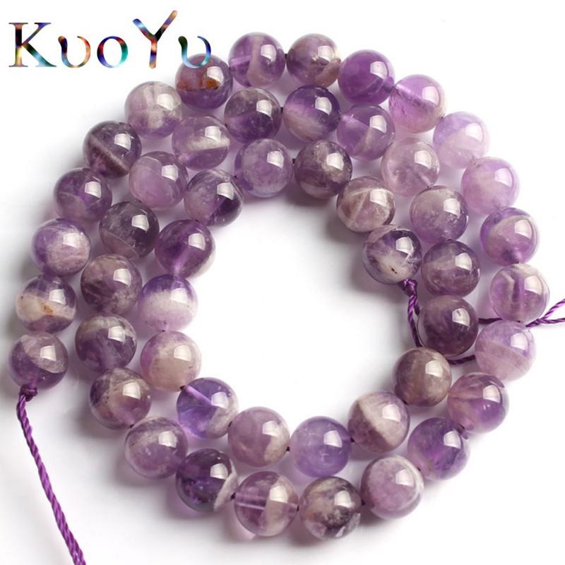 100/% Natural Amethyst Round Loose Beads Spacer Gemstone Making Jewelry Strand
