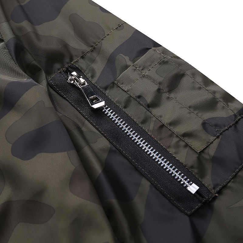 M-7XL 2019 новые осенние мужские камуфляжные куртки мужские пальто Камуфляжный бомбер мужская брендовая одежда верхняя одежда плюс размер M-7XL