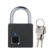 USB Rechargeable Smart Fingerprint Lock IP65 Waterproof Anti Theft Security Padlock Door Luggage Case Garage Lock with 2 Keys