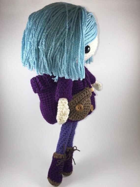 Emilia-amigurumi boneca crochê