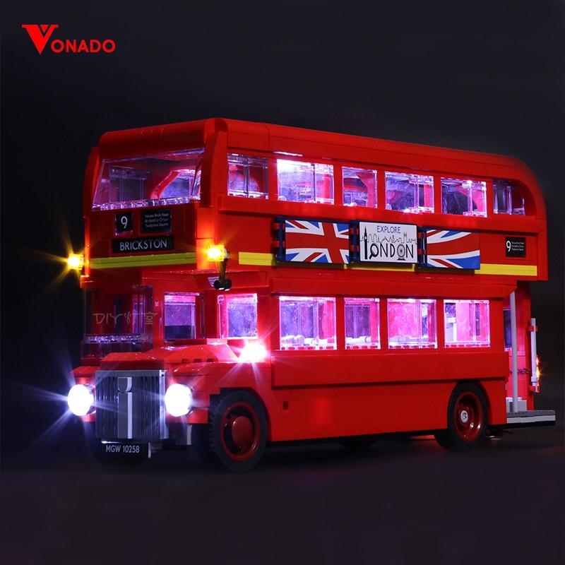 Led Light For Lego 10258 London bus Building bricks Compatible 21045 Creator City technic Blocks Toys (only light+Battery box)Led Light For Lego 10258 London bus Building bricks Compatible 21045 Creator City technic Blocks Toys (only light+Battery box)