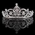 Rhinestone tiara Люкс дизайн романтический кристалл горный хрусталь корону королевы красоты для украшения венчания HG00220