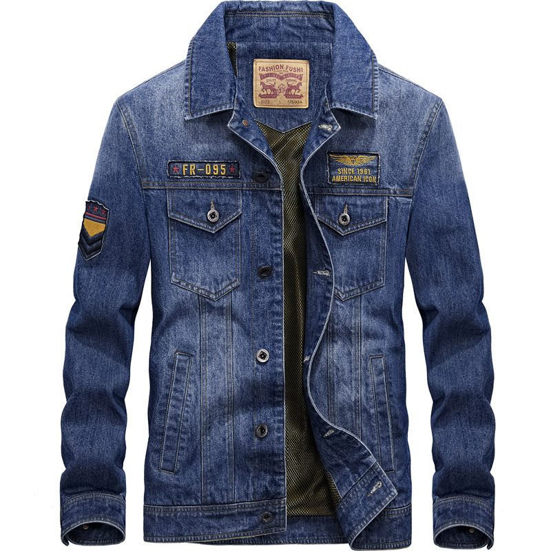 Men's Denim Jacket Outdoor Anti-wear Multi-Pocket Climbing Camping Hiking Fishing Male Tactical Hunting Windproof Warm Clothes solid pocket decoration denim jacket