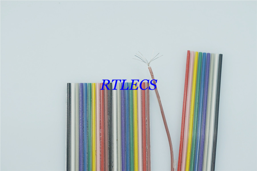 1 Meter 1.27 Mm Pitch 8 9 10 12 14 16 20 26 30 40 Pin Flat Rainbow Ribbon Cable UL2651 AWG 28 For 2.54 Mm IDC & Dupont Connector