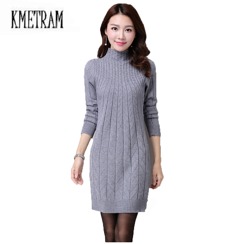 Long Turtleneck Sweater Dresses for Women