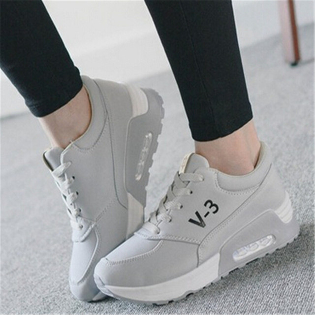 women trainers New Arrival Canvas shoes Women Height Increasing Breathable Casual Shoes Lace up Shoes XK071410 scarpe donna