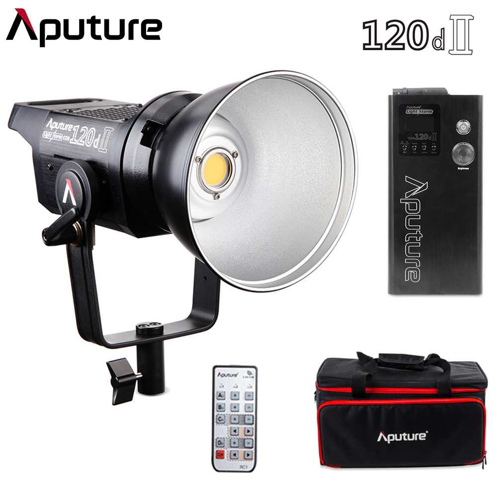 Aputure 120d II Mark II Ultimate Upgrade 30,000 Lux @0.5m Support DMX 5 Photographic Lighting Pre-Programmed 5 Lighting Effects