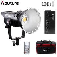 Aputure 120d II Mark II Ultimate обновления 30000 Lux @ 0,5 м Поддержка DMX 5 фотографическое освещение запрограммированных 5 световых эффектов